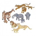 Nature Tube African Wildlife Family Animal Figures