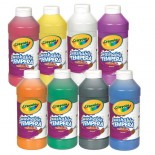 Crayola® Artista ll Washable Tempera Paint (16 oz): Set of 8