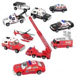 Safety Vehicles (Set of 10)