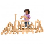 Unit Blocks Basic Classroom Set 1 (107 pieces, 28 shapes)