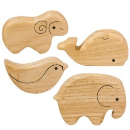 Soft Sounds Wooden Animal Shakers (Set of 4)