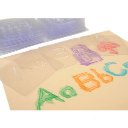 Alphabet Match Rubbing Plates