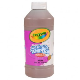Crayola® Artista ll Washable Tempera Paint (16 oz): Brown