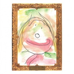 Gold-Framed Watercolor Paper (30 Sheets)
