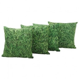 Grass Print Pillows - Set of 4