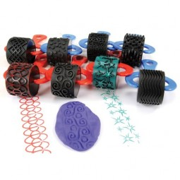 Jumbo Paint and Clay Explorer Rollers (Set of 8)