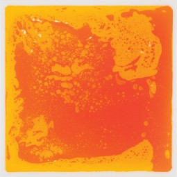 Orange Liquid Tile Mat