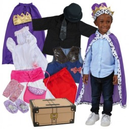 Pretend Play Dress-Up Trunk (20 Pieces)