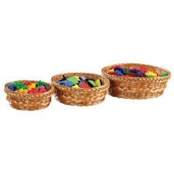 Round Wicker Baskets (Set of 3)
