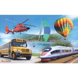 "Transportation 24-Piece Floor Puzzle (24"" x 36"")"