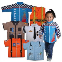 When I Grow Up Career Toddler Set (6 Polyester Dramatic Play Costumes)