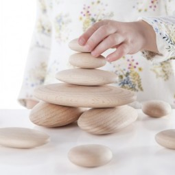 Wood Stackers: River Stones - Set of 20