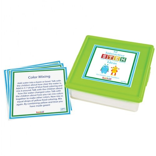 "52 Interactive STEM Ideas for Infants and Toddlers (5"" x 5"" Activity Cards)"