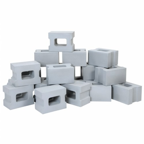 Brick, Blocks, and Rock Builders: Cinder Block Builder Set