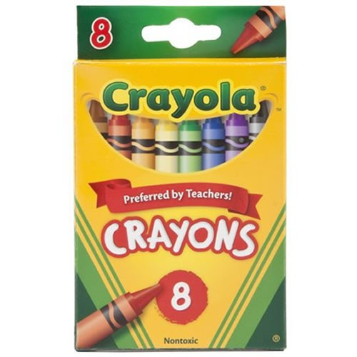 Crayola® 8-Count Crayons - Standard (12 Boxes)