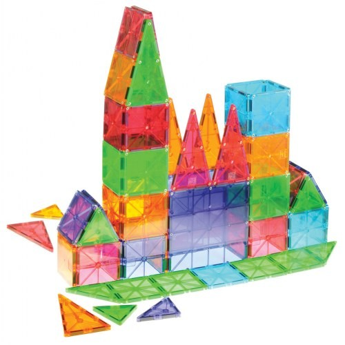 Magna-Tiles® 100-Piece Clear Colors Set