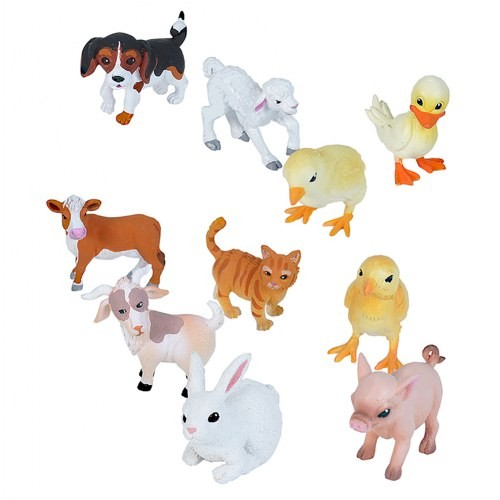Nature Tube Farm Babies Animal Figures