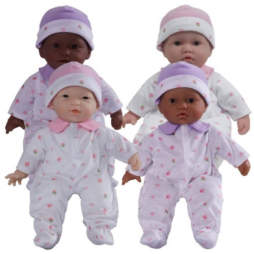"11"" Soft Body Baby Dolls (Set of 4)"