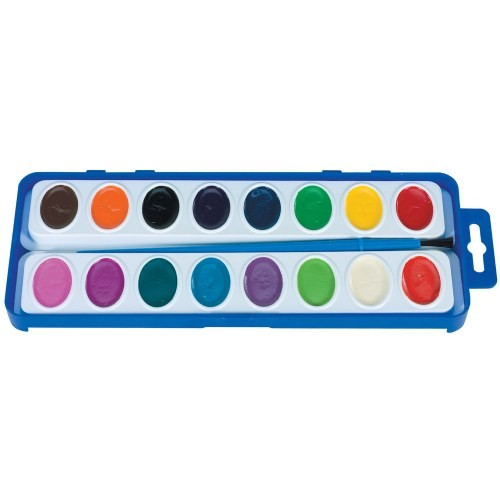 Washable Watercolors Paint Set (16 Colors)