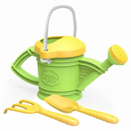 Watering Can with Shovel & Rake
