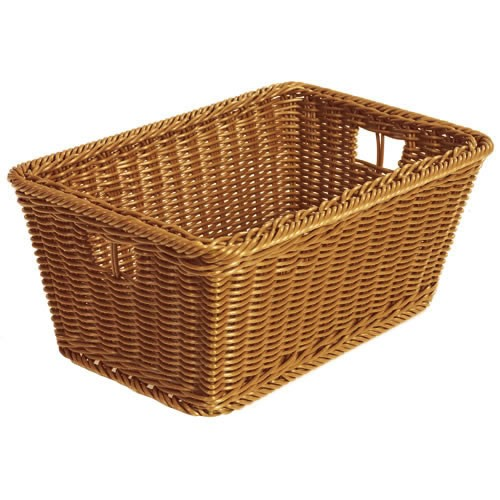 Plastic Wicker Basket: Small
