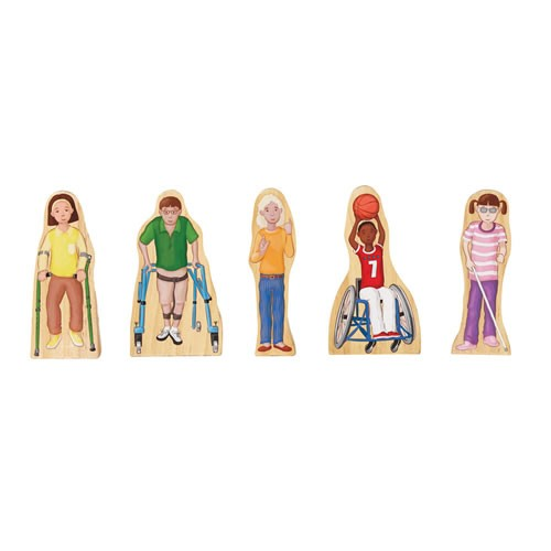 Wooden Wedgie Friends with Special Needs (Set of 5)