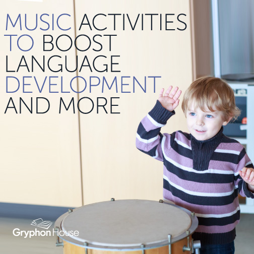 Music activities for preschoolers not only stimulate the brain and music appreciation, but have been proven to improve language development in children.