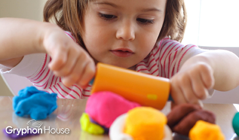 Building Fine Motor Skills with Playdough