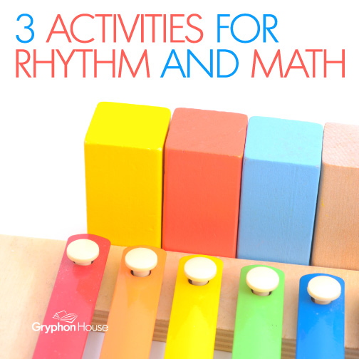 Rhythm activities are a great to teach preschoolers and young children lessons across a variety of topics. From music to language to science...and math!