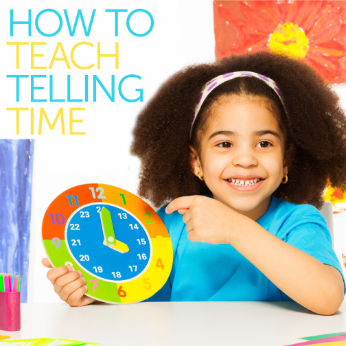 Teaching telling time is an important lesson for early education. Learning telling time helps children begin their early math skills and start to better understand the world around them.